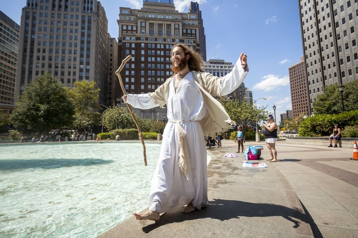 Carroll - Philly Jesus at LOVE Park