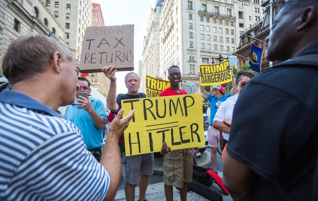 Carroll - Trump at Union League Protest