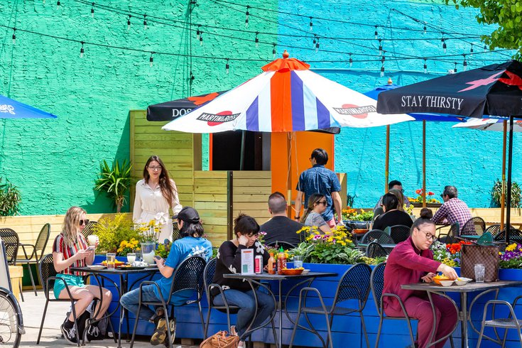 Outdoor dining on Passyunk Avenue