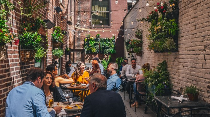 Royal Boucherie's outdoor deck in Old City