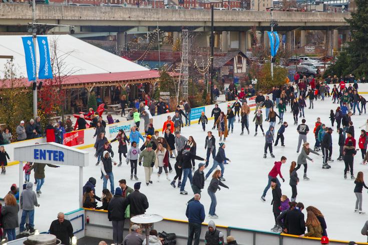 Ice skating at Winterfest