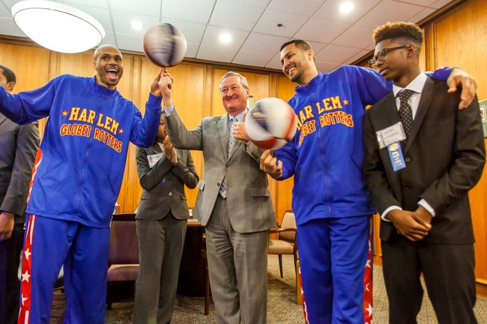 Harlem Globetrotters and Jim Kenney