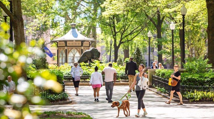 Carroll - Walking in Rittenhouse Square