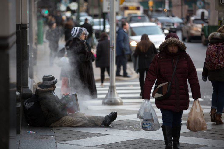 Carroll - Homeless Person on Winter Street
