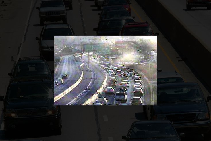 Traffic builds on I-95 north after accident near Girard Ave