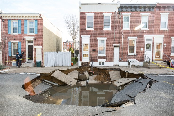 Carroll - Massive Sinkhole in Fishtown