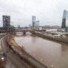 Stock_Carroll - Muddy Schuylkill River after heavy rain