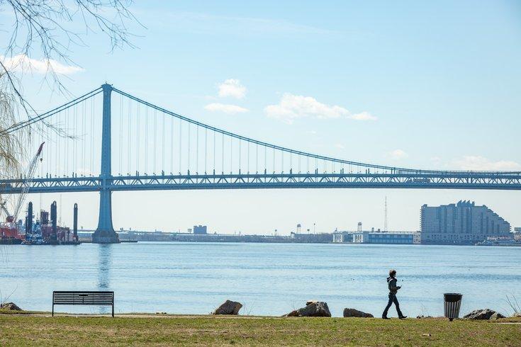 Carroll - Benjamin Franklin Bridge, Penn Treaty Park and the Delaware River