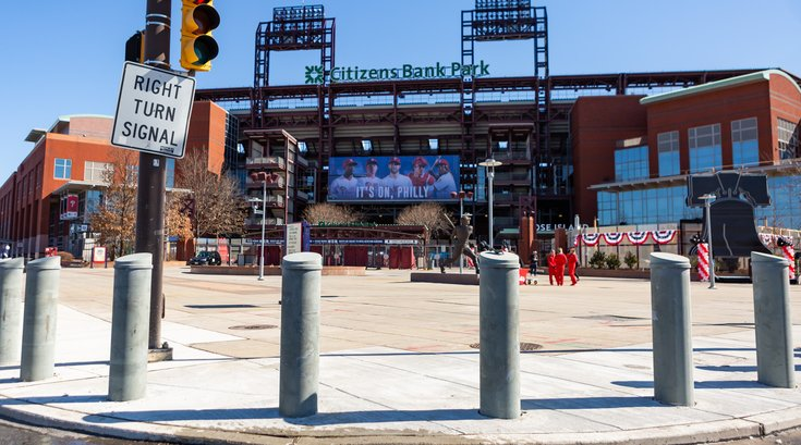 Carroll - Citizens Bank Park Bollards installed for pedestrian safety