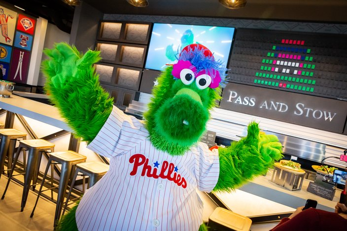 Carroll - Phillie Phanatic at Citizens Bank Park new for 2019 Pass and Stow