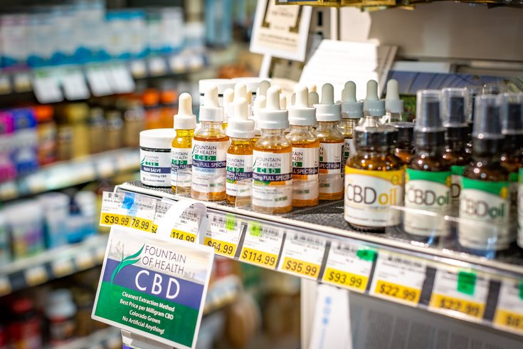 Carroll - CBD oil products at Weaver's Way co-op.