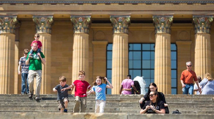 Stock_Carroll - People on the steps of the Philadelphia Museum of Art