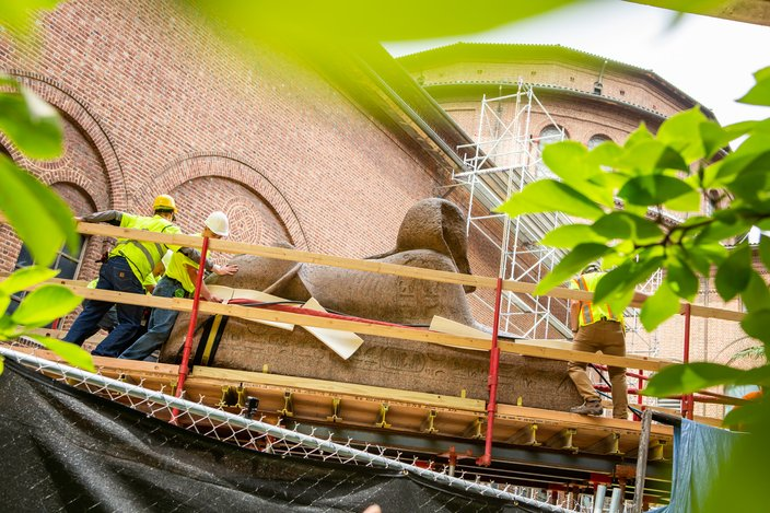 Carroll - Moving the Sphinx of the Pharaoh Ramses II at Penn Museum