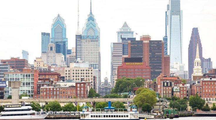 Carroll - Philadelphia Skyline and Delaware River