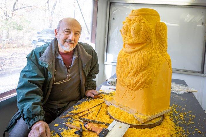 Carroll - Gritty Cheese Sculpture