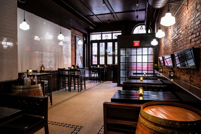 Village Whiskey dining room