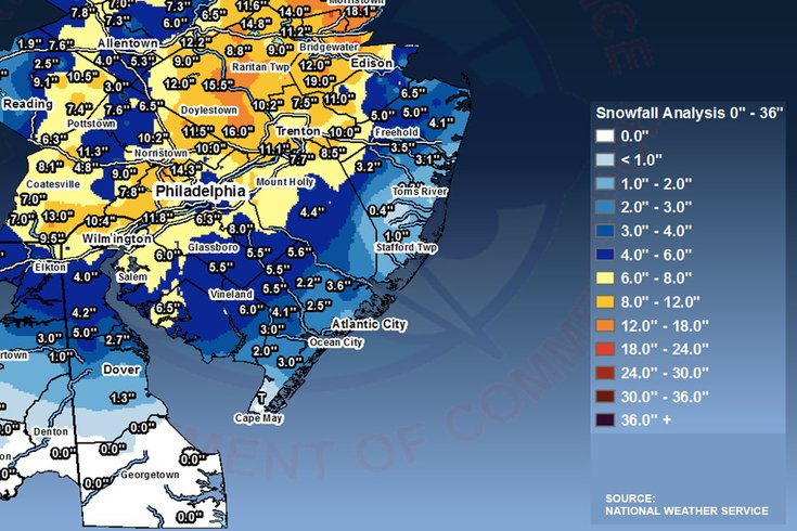 Updated, expanded totals: How much snow fell near you ... on