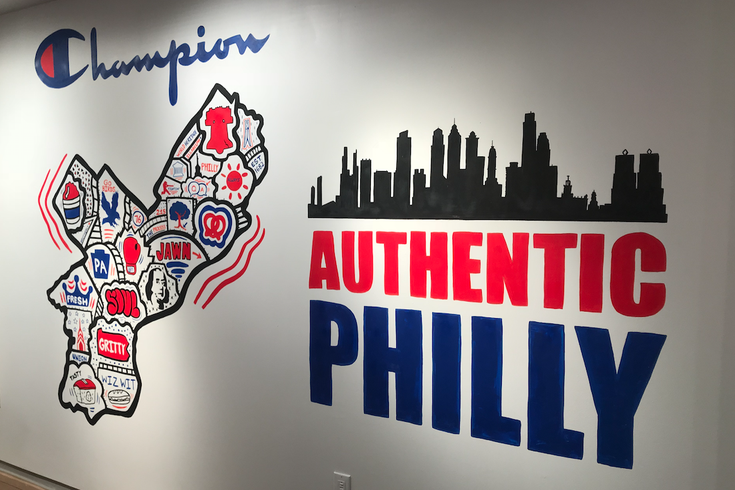Tote bags designed by local mural artist to be given out at Champion in Center City