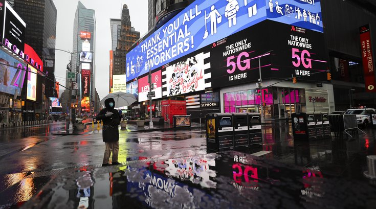Coronavirus Testing Times Square New York City
