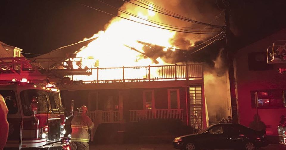 Four Adults Three Kids Rescued As Fire Destroys Jersey