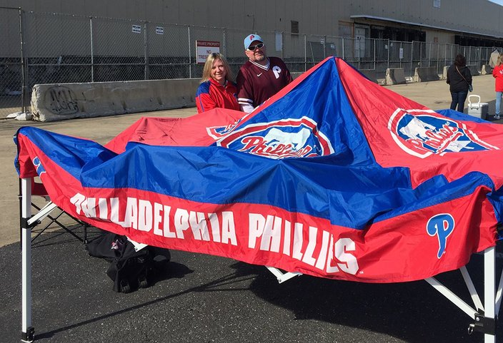 Phillies Opening Day Tent Fans 03282019