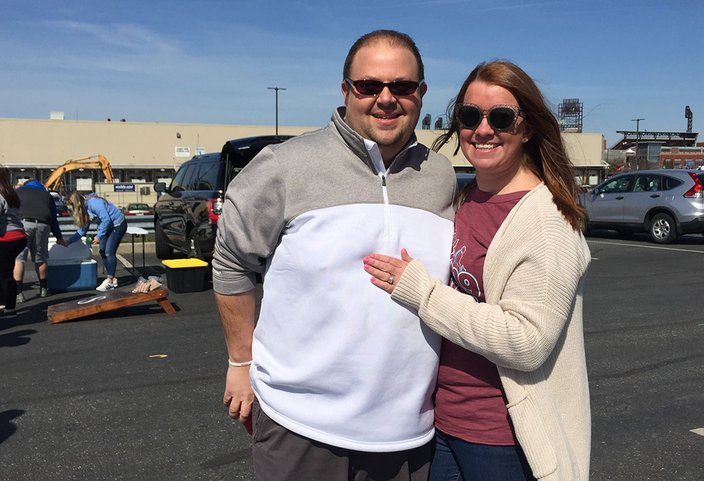 Phillies Opening Day 2019 Love Couple 03282019