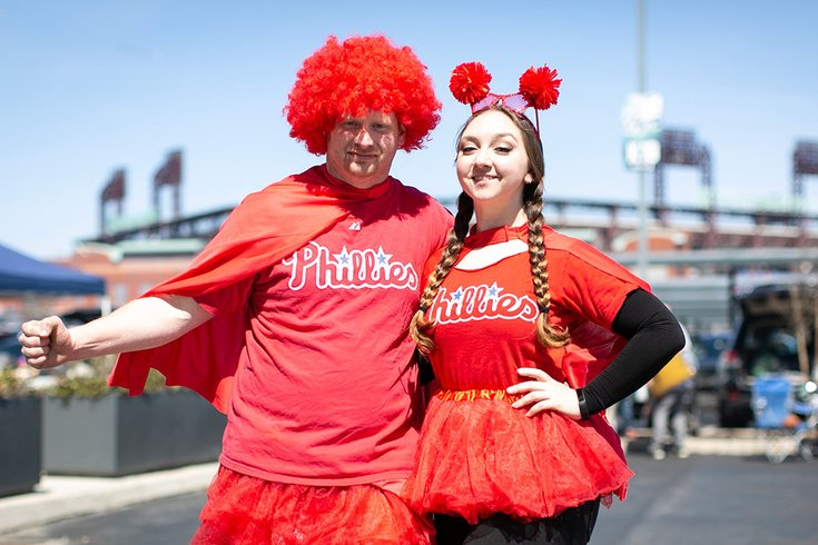 Phillies Opening Day 2019 Fan Costumes 03282019