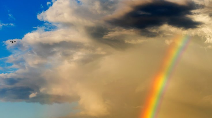 Rainbow Clouds Sky 03282019