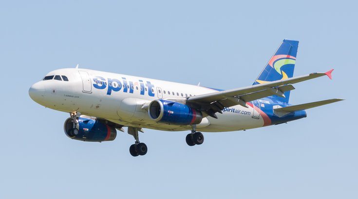 Carroll - Spirit Airlines airplane
