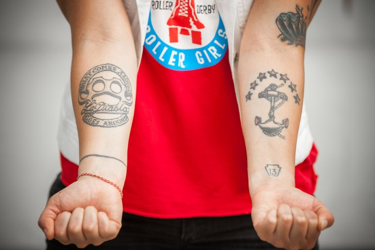 17ebe265b The tenacious tattoos of Philly Roller Derby | PhillyVoice