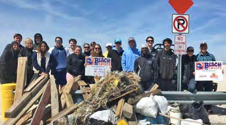 Clean Ocean Action beach sweep 04032019
