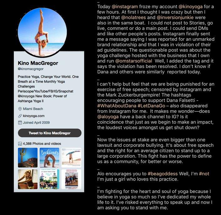 e58849d564 Beloved Instagram yogis Dana Falsetti and Kino MacGregor fight back ...