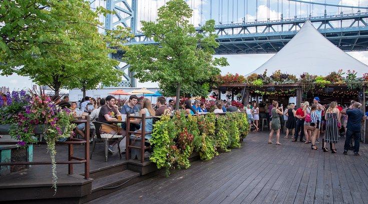 Morgan's Pier beer garden