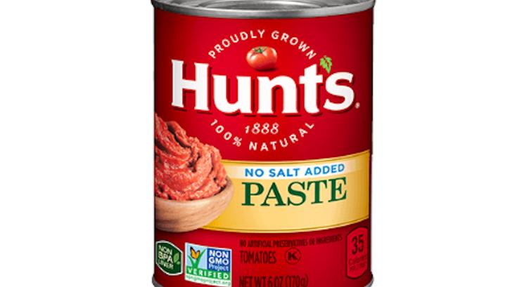 hunt's tomato paste recall