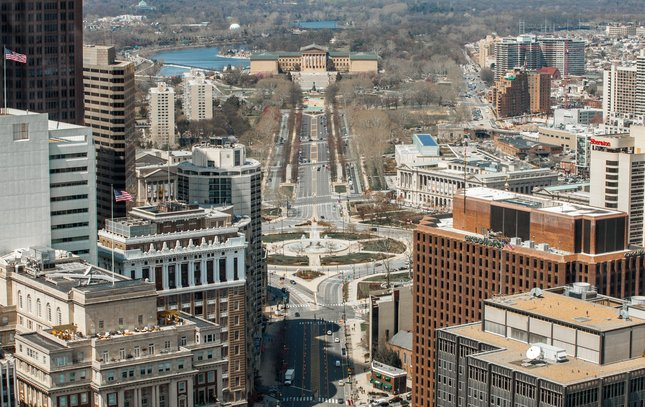 Carroll - Aerial Photo of Benjamin Franklin Parkway