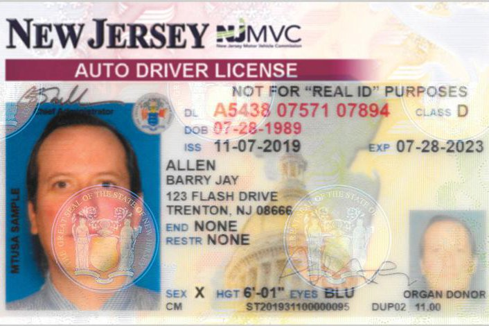 NJ non-binary drivers licenses