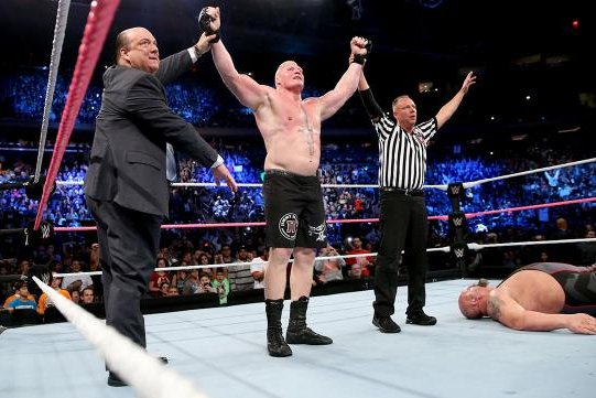 WWE At MSG Lesnar Takes Big Show To Suplex City