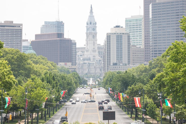 Stock_Carroll - Benjamin Franklin Parkway Philly Skyline