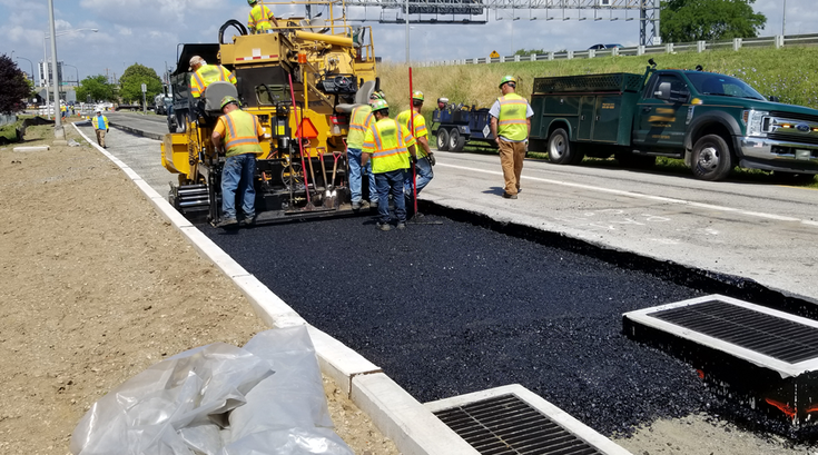 I-76 Walt Whitman Bridge construction