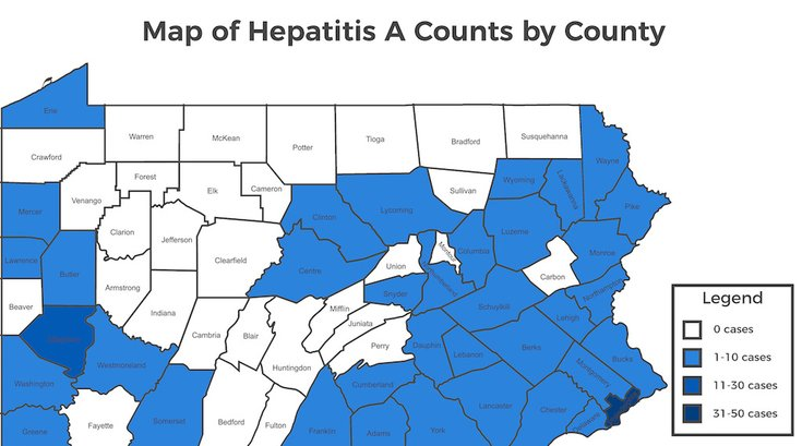 hepatitis A outbreak Pennsylvania