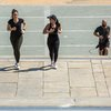 Stock_Carroll - Exercising on the steps of the Philadelphia Museum of