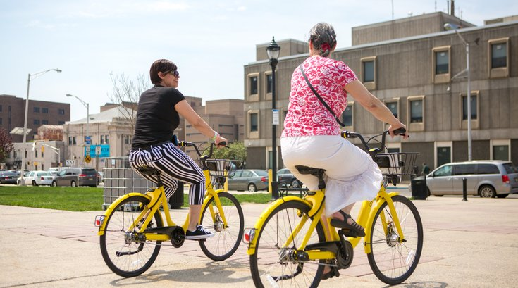 Carroll - Ofo bike share bicycles in Camden, NJ