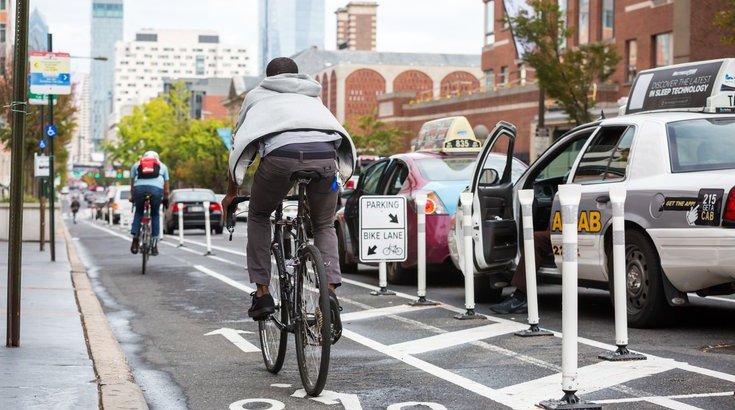 Philadelphia bike lanes construction