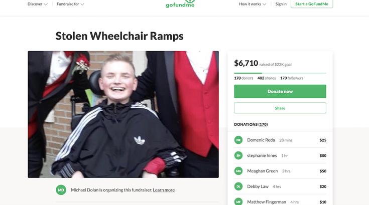 domenic dolan cerebral palsy