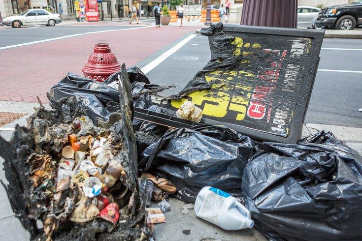 Carroll - Burned Trash Can