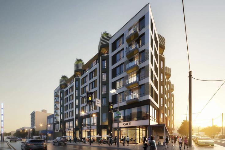 拟建的大楼位于北布罗德街922号,与吉拉德大道相交,将包括201个住宅单元和底层商业空间。(photo:PhillyVoice)
