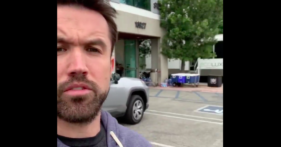 Rob McElhenney and 'It's Always Sunny in Philadelphia' cast are taking over Dunder Mifflin from 'The Office'