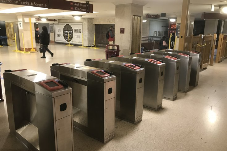 Suburban Station PPE vending machines