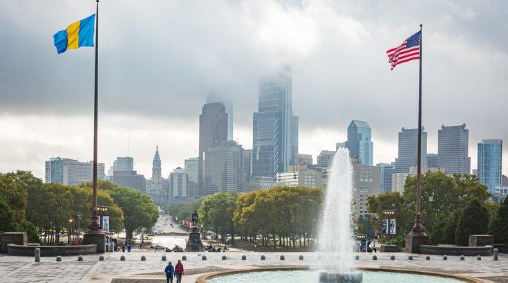 Carroll - Philadelphia Skyline and Benjamin Franklin Parkway