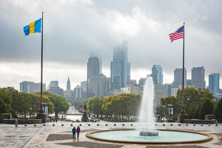 Carroll - Philadelphia Skyline and Benjamin Franklin Parkway